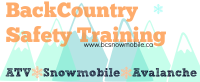 BackCountry Safety Training – Snowmobile, ATV and Avalanche